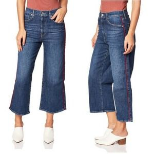 Levis 32 Mile High Cropped Wide Leg Jeans NWT